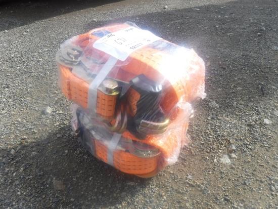 """(4) Unused Great Bear 1 1/2"""" x 27' Ratchet Cargo"""