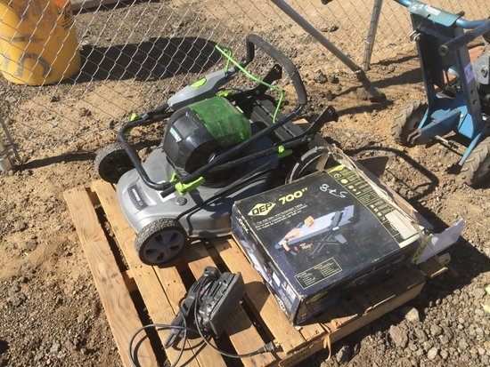 """Pallet of Earthwise 21"""" Battery Powered Mower,"""