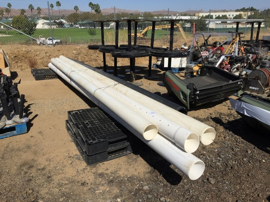"""Pallet of Misc 6"""" & 2"""" Plastic Pipe."""