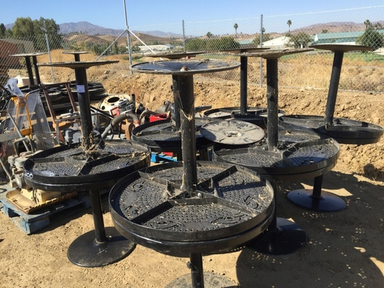 """Pallet of (13) Metal 36"""" Round Patio Tables."""