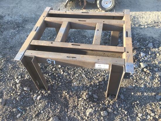 """36"""" x 32"""" Steel Channel Table."""