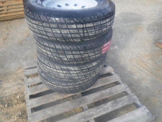 (4) Unused Gladiator ST205/75R15 Radial Tires
