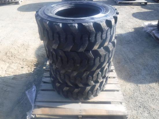 (4) Unused Turbo 10-16.5 Tires,
