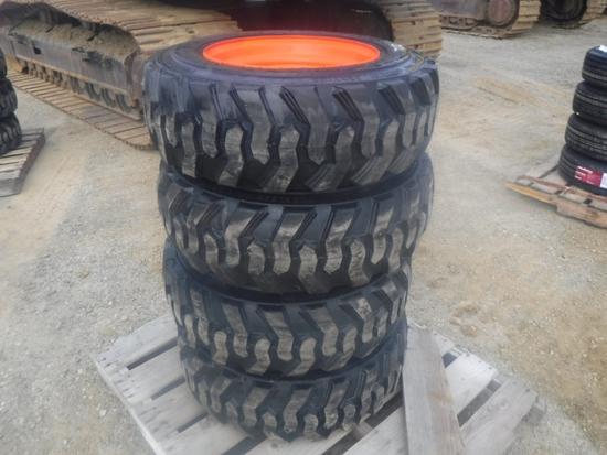 (4) Unused Loadmaxx 10-16.5 Tires and Rims,