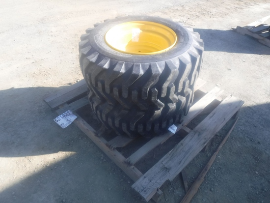 (2) Unused Camso SKS332 12-16.5 Tires and Rims,