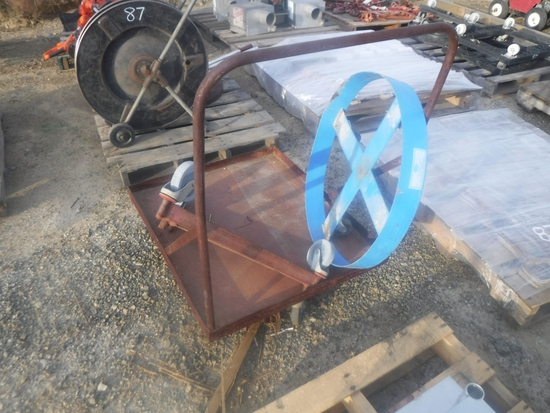 Lot of Steel Drum Dolly, Triangular Dolly,
