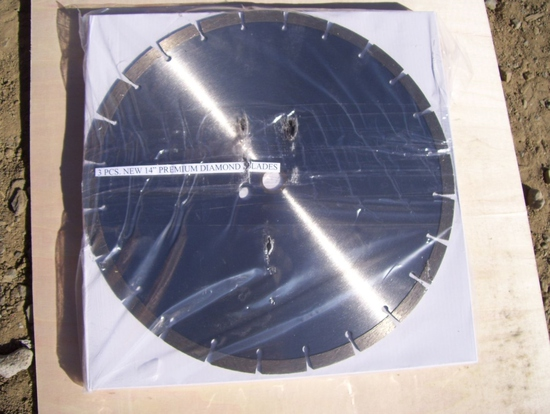 "(3) Unused 14"" Premium Diamond Blades."