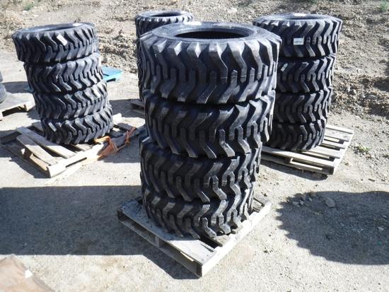 (4) Unused Camso SKS332 12-16.5 Skid Steer Tires.