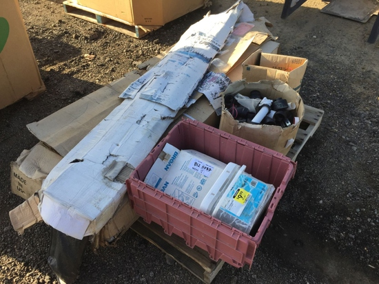 Pallet of Misc Items, Including Truck Bed Covers,