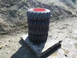 (4) Unused Loadmax 10-16.5 Skid Steer Tires