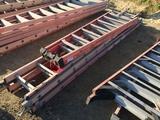 Lot of (3) Werner Fiberglass Ladders,