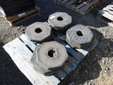 Pallet of (18) Rubber Octagonal Delineator Bases.