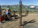 7' Horseshoe Cactus Sculpture.
