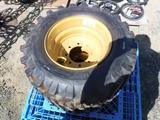 Pallet of (2) 12-16.5 Skid Steer Tires & Rims.