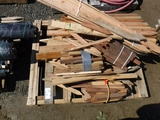 Pallet of Wooden Stakes.