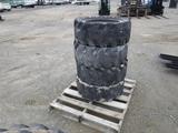 (4) 33x12-20 Cushion Skid Steer Tires & Rims.