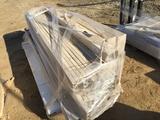 Pallet of Plastic Fence Posts & Rails.