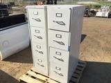 Pallet of (2) Metal 4-Drawer Filing Cabinets.