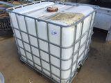 250 Gallon Plastic Container in Cage.