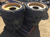 Pallet of (6) Solid Tires & Rims.