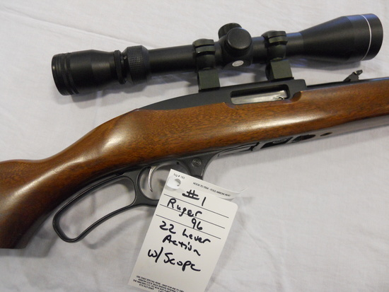 Ruger, 96, 0.22, lever action, with scope