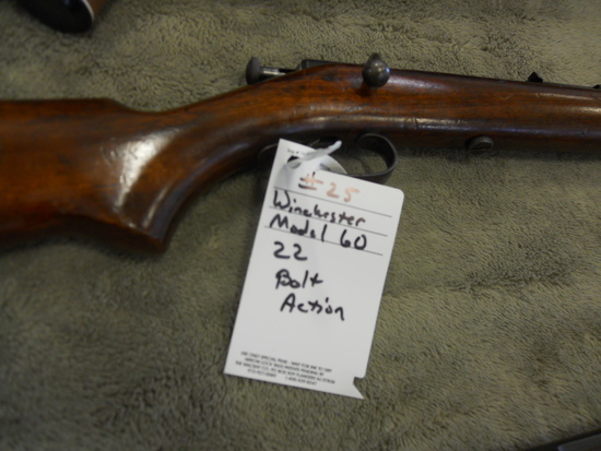 Winchester, 60, 22, bolt action