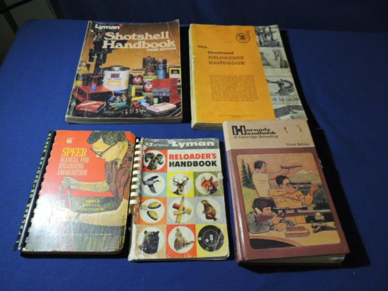 Five Reloading Manuals |     Auctions Online | Proxibid