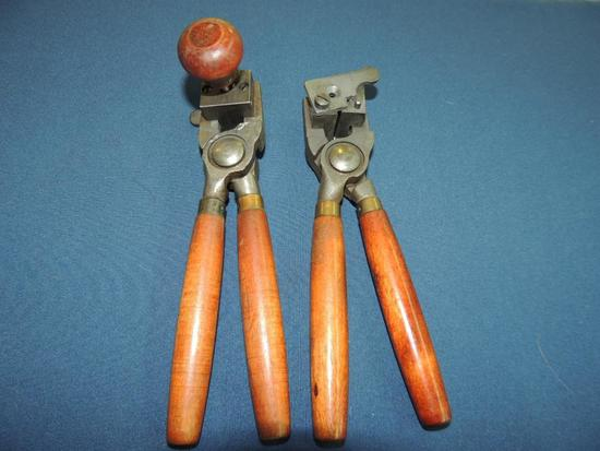 Two Bullet Molds with Handles