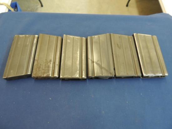 Six FN FAL 308 20 Round Magazines