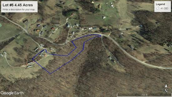 4.45 Acres with One Mobile Home
