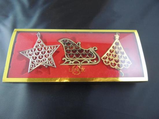 Lenox Vintage Jewel Three Ornament Set