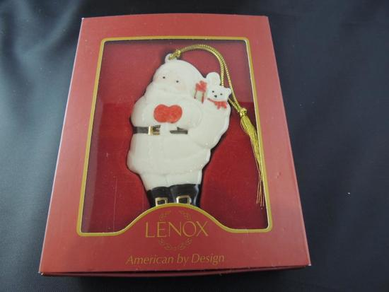 Lenox Santa Ornament