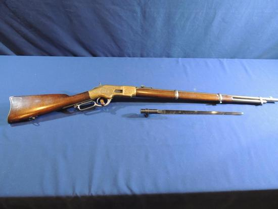 Outstanding Engraved Winchester 1866 Musket 44 Rimfire