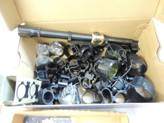 Large Lot of Scope Rings and Scope