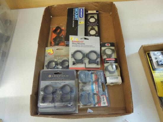 Large Lot of New Scope Rings