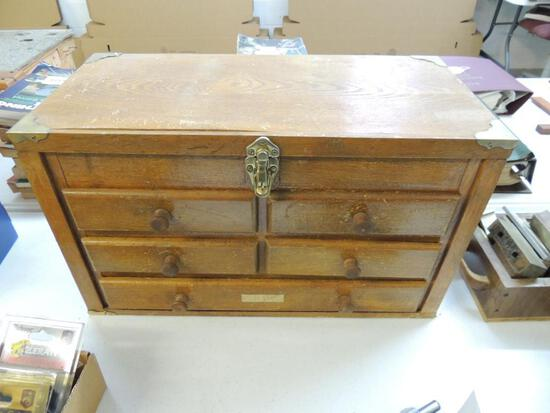 Vintage Wooden Gunsmiths Box