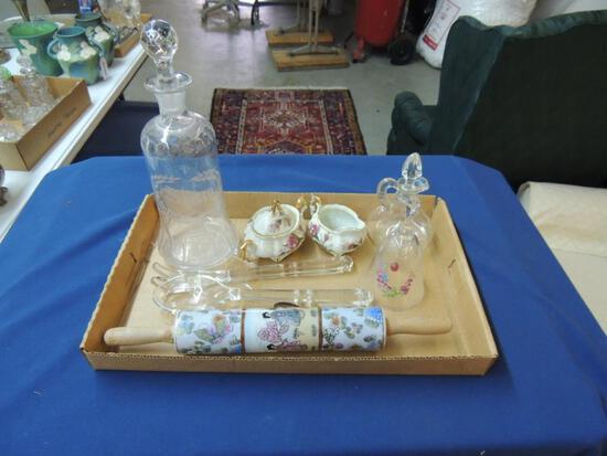 Antique Decorative Glassware Lot