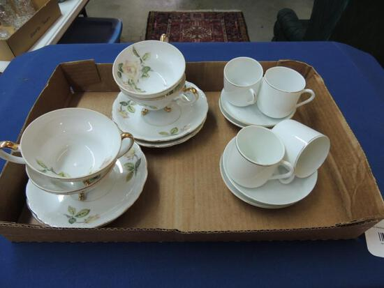 Two Cup and Saucer Sets