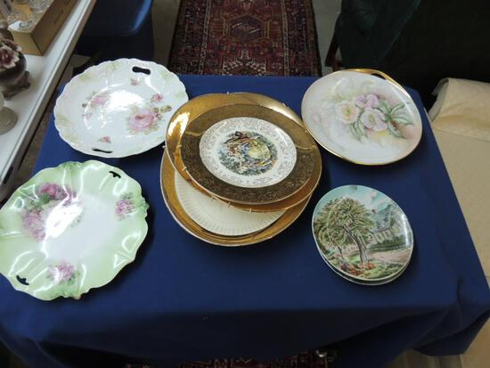 Hand Painted and Decorative Plate Lot