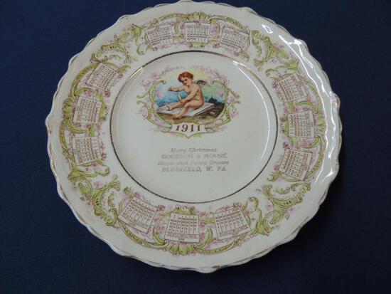 1911 Christmas Calendar Plate