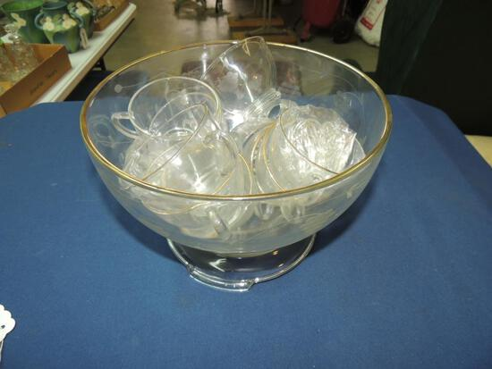 Punchbowl and Cup Set
