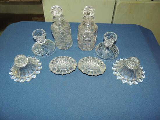 Lot of Pressed and Cut Glass
