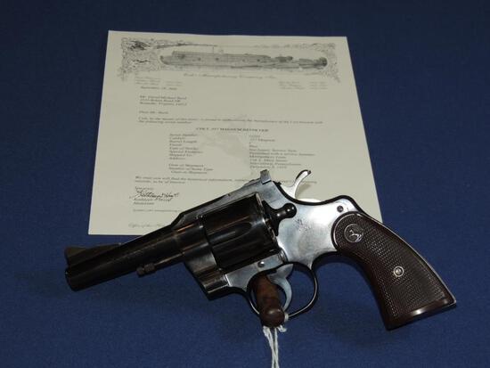 Special Order Colt Model 357 357 Magnum Revolver with Letter