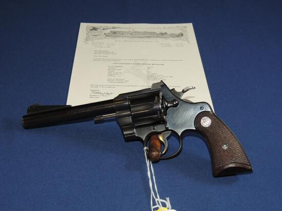 Colt Officers Model Special 38 Special with Letter