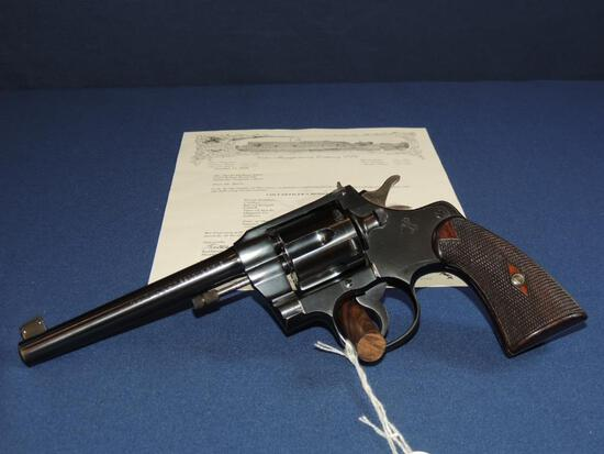 Colt Officers Model 22 Long Rifle with Letter