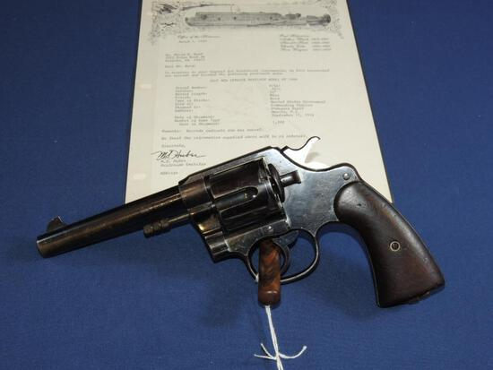 US Issued Colt New Service Model of 1909 45 Long Colt with Letter