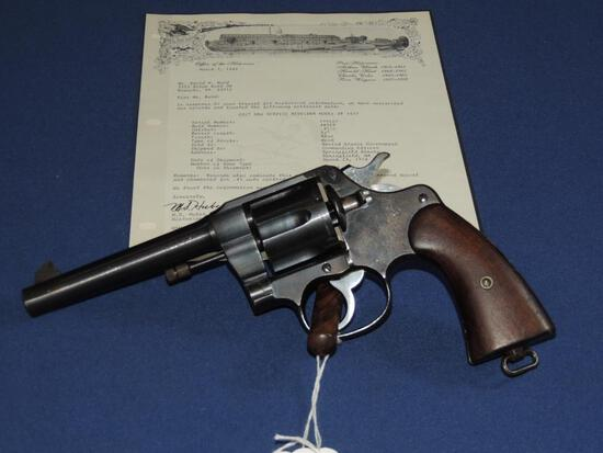 US Issued Colt New Service Model of 1917 45 Colt Auto Caliber with Letter