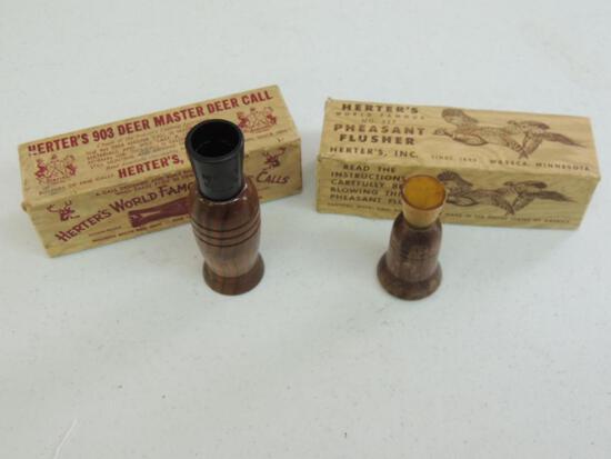 Two Vintage Herters Game Calls
