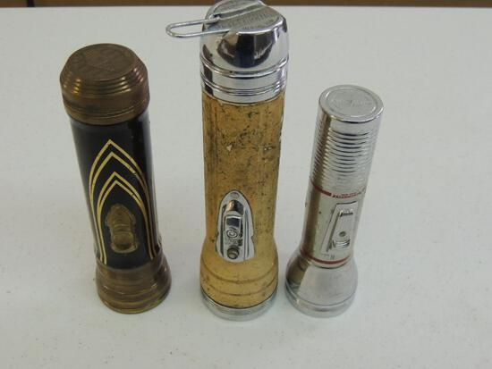 Three Vintage Flashlights; Winchester and Eveready