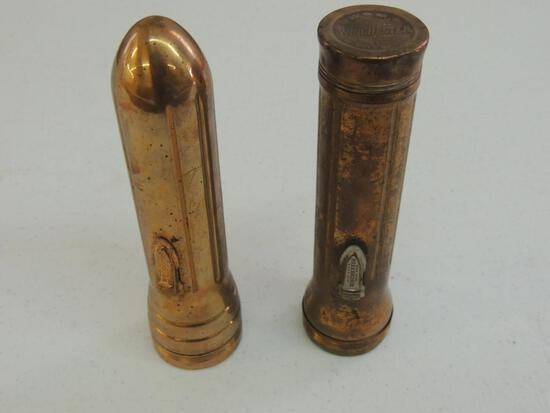 Two Winchester Copper Flashlights